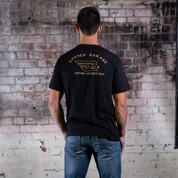 Custom Motorcycle Tee Black - Smoked Garage Back