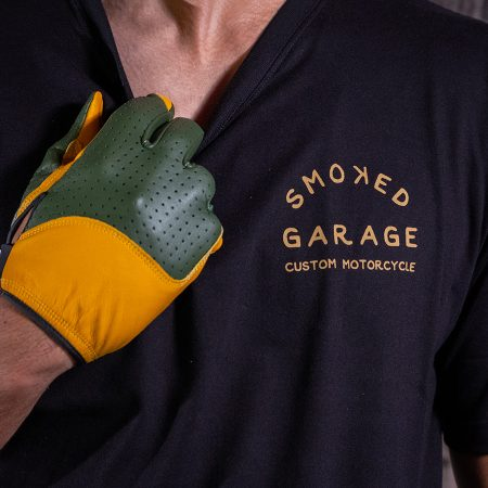 Custom Motorcycle Tee Black - Smoked Garage Logo