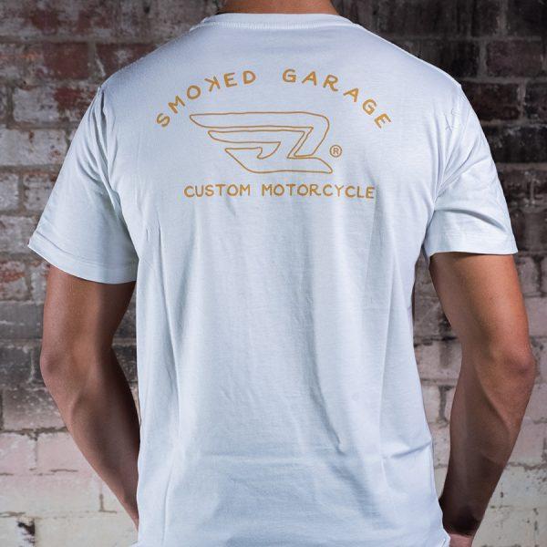 Custom Motorcycle Tee White - Back Zoom