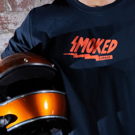 Electric Smoked Garage Tee Black With Helmet