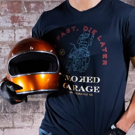 Live Fast Die Later Tee Black Smoked Garage