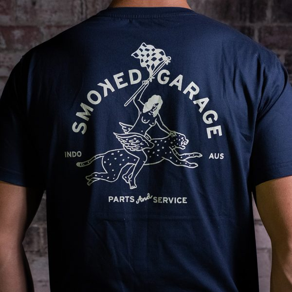 Parts & Service Racing Tee Navy Back Zoom