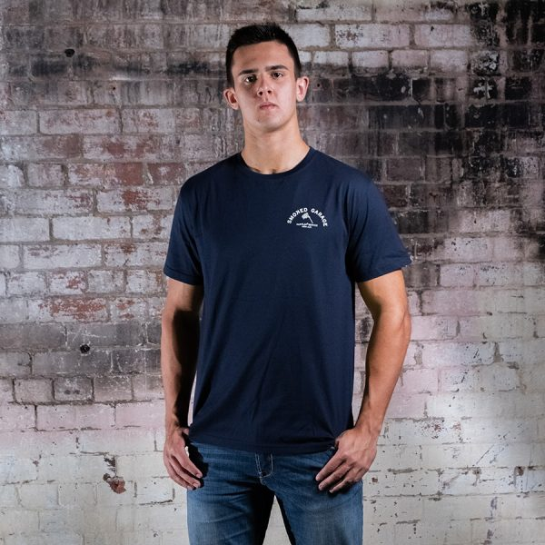Parts & Service Tee Navy Smoked Garage