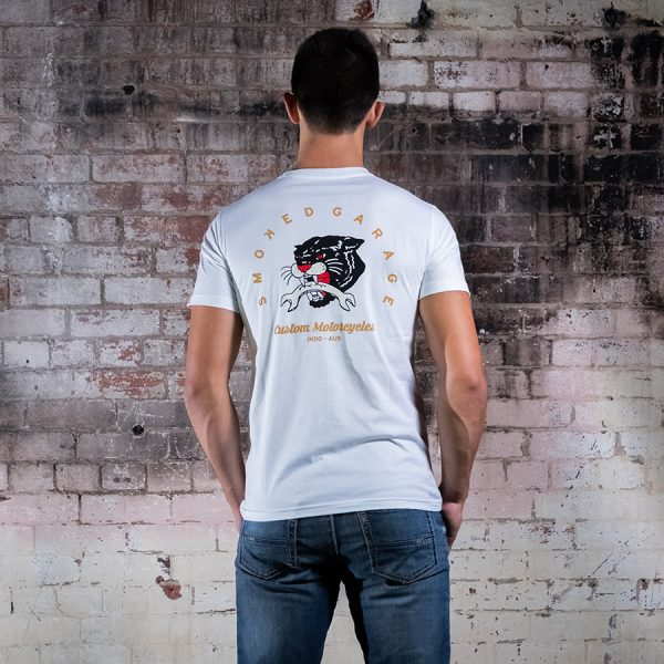 Smoked Cougar Tee White Back